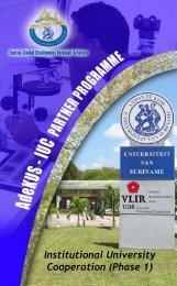Institutional University Cooperation Programme - Vlir - Adekus