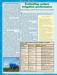 Evaluating surface irrigation performance - Greenmount Press