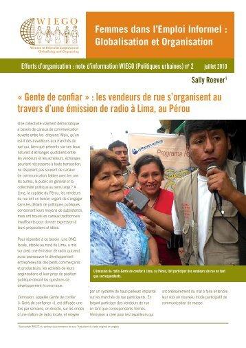 « Gente de confiar » : les vendeurs de rue s ... - Inclusive Cities