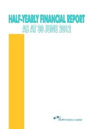 Half yearly report 2012 - Gruppo Banca Carige