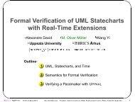 Formal Verification of UML Statecharts with Real ... - M. Oliver Moeller