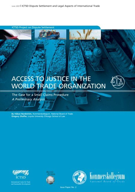 access to justice in the world trade organization - RUIG-GIAN