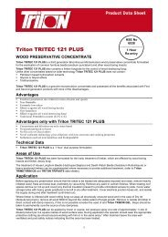 Triton TRITEC 121 PLUS - Triton Chemicals