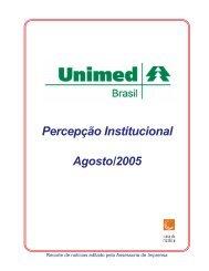 Relatório Unimed Agosto - Unimed do Brasil