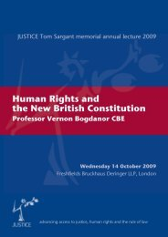 Human Rights and the New British Constitution - Justice