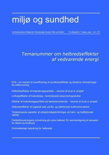 Helbredseffekter af vedvarende energi - Sundhedsstyrelsens ...