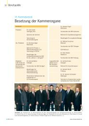 Besetzung der Kammerorgane - Zahnärzteblatt Baden-Württemberg