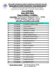 UG COURSE CENTRE - National Institute of Rehabilitation Training ...