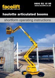 Haulotte Articulated Booms - Facelift