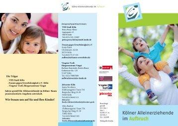 Kölner Alleinerziehende - Flyer - Bürgerzentrum Vingst