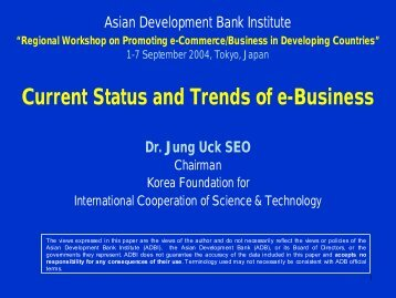 Current Status and Trends of e-Business - Asian Development Bank ...