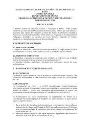 Edital Nº: 01/2012 - IFBA - Campus Eunápolis