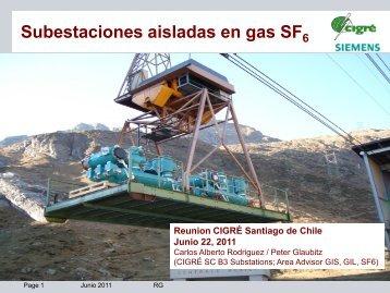Subestaciones aisladas en gas SF - Cigré
