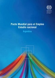 Pacto Mundial para el Empleo. Estudio nacional - Argentina - Oit