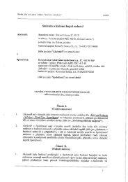 Smlouva o budoucí kupní smlouvě - Statutární město Ústí nad Labem
