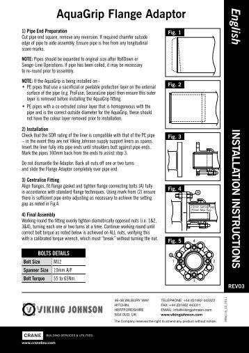 English AquaGrip Flange Adaptor - Viking Johnson