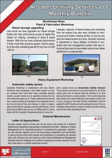 Newsletter for Dec . 2009 - Al Jaber Group