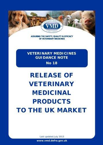 VMGN 18 - Veterinary Medicines Directorate - Defra