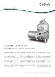 Separator KDB 45-02-076 - GEA Westfalia Separator Group
