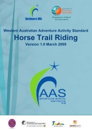 Horse Trail Riding - Outdoors WA