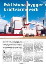 Eskilstuna bygger nytt kraftvärmeverk - Novator