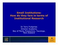Small Institutions: How do they fare in terms of Institutional ...