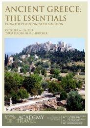 Ancient Greece: - Academy Travel