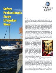 Safety Professionals Study Lifejacket Wear