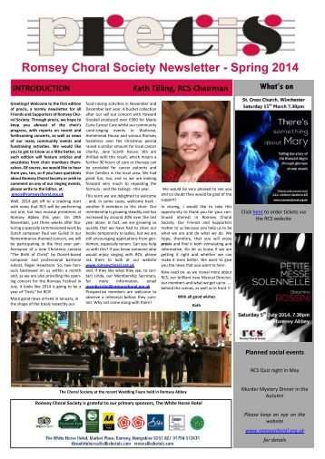 RCS Newsletter Spring 2014 - issued version
