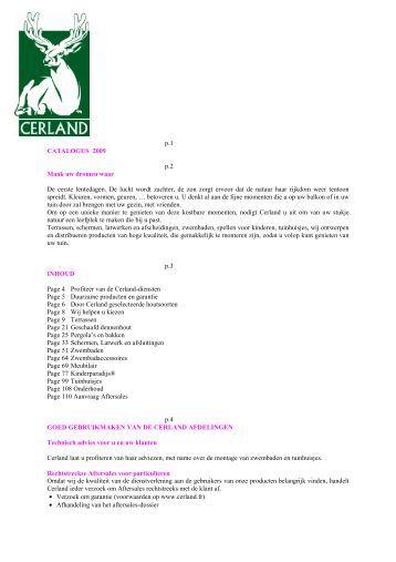Catalogue 2009 NL - CERLAND