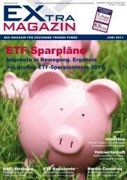 ETf-sparpläne - EXtra-Magazin