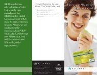 Alliant HSA VISA® Debit Card - Alliant Credit Union