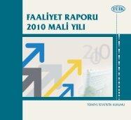 Mali Yılı Faaliyet Raporu(2010) - Türkiye İstatistik Kurumu