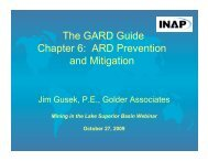 The GARD Guide Chapter 6: ARD Prevention and Mitigation