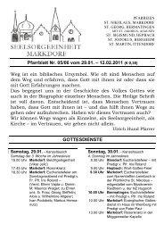 Pfarrblatt Nr. 05/06 vom 29.01. – 12.02.2011 (€ 0,30) Weg ist ein ...