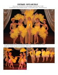 COSTUMES: GUYS AND DOLLS