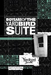50yearsofthe - Yardbird Suite