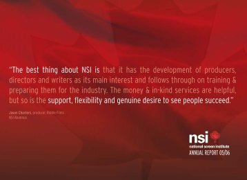 notestothefinancialstatements - National Screen Institute - Canada