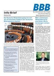 BBB-Info-Brief, Ausgabe 10/12 - Bildungsverband.info