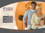 Panel de modèles - Maisons France Confort