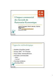 L'impact commercial des Accords de Partenariat ... - Fondation FARM