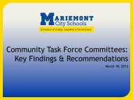the March 2013 presentation - Mariemont City Schools