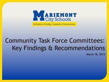 the March 2013 presentation - Mariemont City Schools