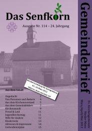 Gemeindebrief 2012-2 - Evangelische Kirchengemeinde Nieder-Moos