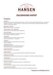 ITALIENISCHES BUFFET - Fleischerei Hansen