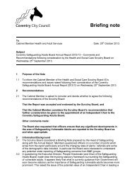 Briefing Note of Health and Social Care Scrutiny Board (5)