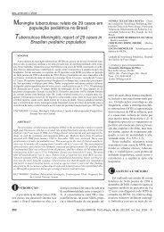 Meningite tuberculosa: relato de 29 casos em população pediátrica ...
