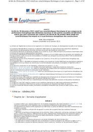 Page 1 of 45 Arrêté du 28 décembre 2012 relatif aux ...