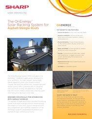 The OnEnergy Solar Racking System for Asphalt-Shingle Roofs