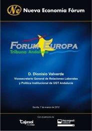 D. Dionisio Valverde - Nueva Economía Fórum